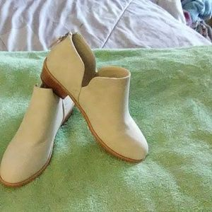 Beautifully made winter white faux suede bootie